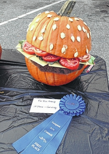 Pumpkin contest winners sampson independent