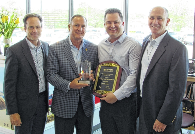 Pictured, From Left, Are: Andy Eccher, Vice President Of Market  Representation For Southeast Toyota Distributors LLC; Stefanovich; ...