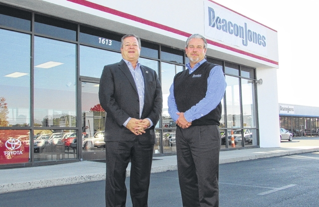 Ken Jones, President And CEO Of Deacon Jones, Left, Stands With Scott  McLeod, General Manager Of Deacon Jonesu0027 Clinton Locations, In Front Of  Deaconu0027s ...