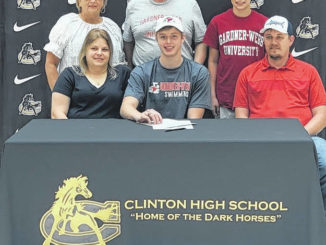 Surrounded by family members, Clinton High School's Justin Pike signed his National Letter of Intent, inking his plans to join the Swim Team at Gardner-Webb. During his time at Clinton, Pike was a member of the Dark Horses men's soccer and men's tennis state championship teams as well as a 3-year member of the Clinton Swim team. Some of his accomplishments as a swimmer for the Dark Horses include being All-County and All-Conference as well as second-highest point earner. Outside of swimming for Clinton, Pike is also a member of the Triangle Aquatic Center in Cary, where he is a TAC Titan Senior Champion.                                  Justin Lucas | Sampson Independent