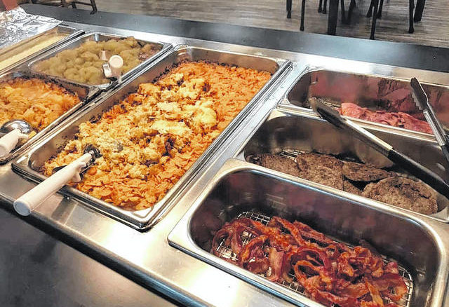 A variety of breakfast items are avaialble at the hot bar.                                  Courtesy Photo