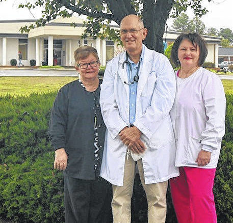 Dr. John B. Smith and nurses Susan Jordan and Sharlene Raynor are retiring from the Clinton Medical Clinton with more than 110 combined years of service in the medical field.                                  Courtesy Photo