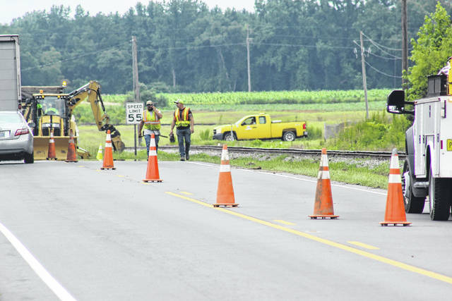 A section of Highway 24 was closed for road repairs in Turkey.