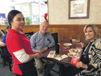 United Way of Sampson County executive director Nancy Carr, and husband Dr. William Carr, enjoy dining at Wa Chang Buffet during a previous 'Dine Out' event.