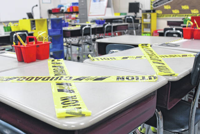To keep students safe, desks in classrooms will not be used due to COVID-19 and social distancing regulations.                                  File Photo | Sampson Independent