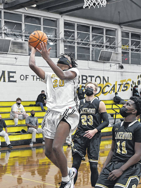 <p>Hobbton's Josiah McLauren goes down the lane for two points against Lakewood in a game last week. Wildcats hoops is on hiatus until Jan. 22, according to the school's athletic director.</p>