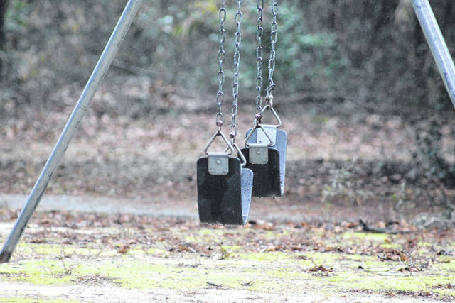 If funding is provided to Autryville, town leaders would like to add more playground equipment to go along with swings.                                  Chase Jordan|Sampson Independent