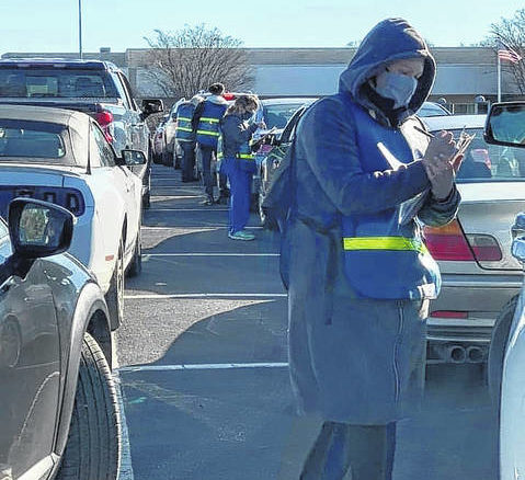 The Sampson County Health Department's Drive-Thru COVID-19 Vaccination Clinic at the Agri-Exposition Center parking lot in Clinton saw nearly 1,400 vaccinated.                                  Courtesy photo