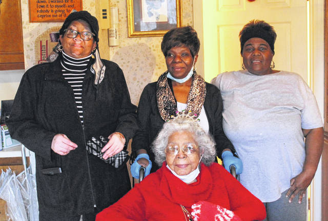 <p>Bertha Johnson Armstrong celebrates her 95th Birthday with family members, the Rev. Judy Johnson-Truitt, Marilyn Hand, and Patricia Cooper.</p>                                  <p>Chase Jordan Sampson Independent</p>