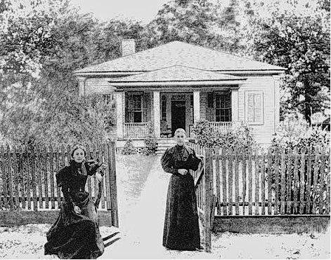 The home of Dr. John Carr Monk; wife Euphemia and daughter Catherine Monk are pictured.