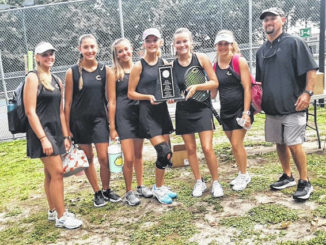 The Clinton Dark Horses girls tennis team enjoyed a successful season and is now hoping to mirror that success in the postseason. Coach Chad Brewer earned Conference Coach of the Year honors while Bailey Spell earned Player of the Year. During last week's East Central Conference Tournament, Spell won the singles bracket while Lauren Naylor and Emily Baggett won the doubles. Spell, along with Megan Byrd, advance to the regionals tournament singles play while Naylor and Baggett will participate in doubles play.