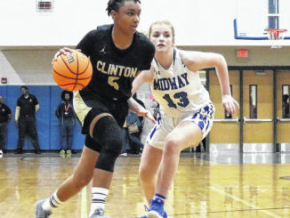 Isa Banks drives against Midway in a previous game.