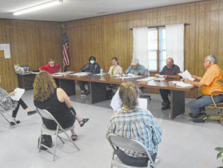 The Turkey Board of Commissioners discusses matters during its regular monthly meeting.                                  Michael B. Hardison | Sampson Independent