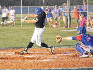 Caden Wilson takes a cut early in the game against Whiteville.                                  Daron Barefoot   Sampson Independent