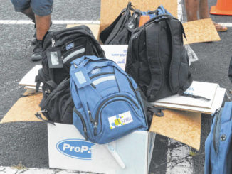 ASPIRE brought another helping of their COVID protection and disaster relief backpacks.