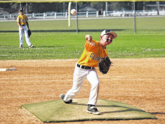 Sampson's Henry Pope fires toward home plate during Sunday's game against North Duplin.