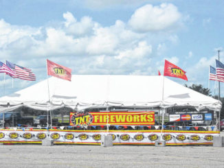 The TNT Fireworks tent found in the parking lot at Walmart in Clinton helps raise funds for The Apostolic Church.