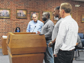 Chris Coleman and Doug Burns from SGA Architecture were in attendance as well as Keith Greenwood and Jimmy Dillahunt. They have been working on various aspects of the rehab of the old Sampson High School facility.                                  Emily M. Williams | Sampson Independent
