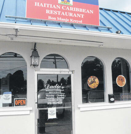 The front side view of Clinton's newest Haitian restaurant Dadie's.                                  Michael B. Hardison | Sampson Independent