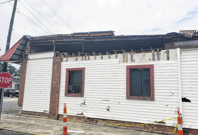 The roof at this structure on West Roseboro Street is falling down into the building and debris has prompted sidewalks to be closed due to safety concerns.
